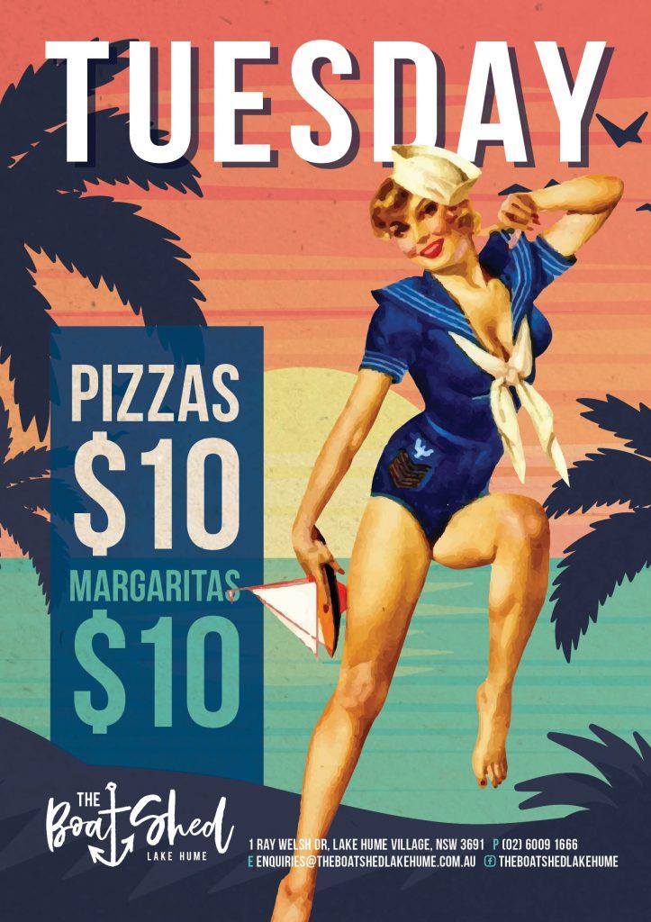 Tuesday Pizza and Margaritsa