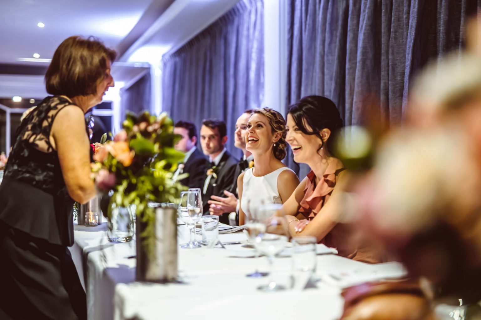 Bridal Party table at a wedding