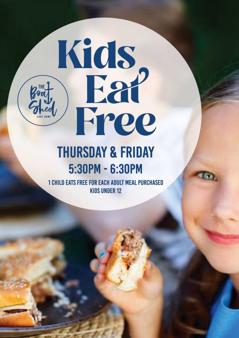 Kids eat free on Thursdays and Fridays